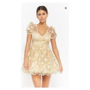 Forever 21 L'ATISTE Floral Appliqué Dress